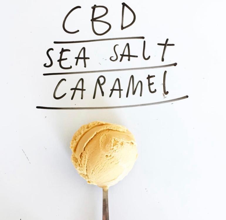Sea Salt and caramel ice cream
