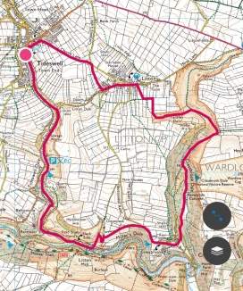 Walking route Tideswell to Litton