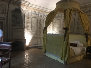 The bedroom in a chateau suite