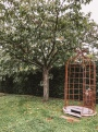 Outdoor shower at Chatea de Bagnols