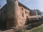 The side of Chateau de Bagnols