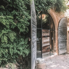 The entrance to the spa at Chateau de Bagnols