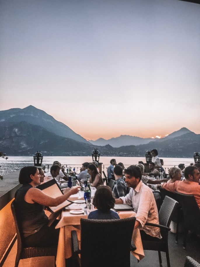 Sunset Views of Lake Como at La Vista Restaurant